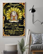Yoga - Imagine All The People Living In Peace 11x17 Poster lifestyle-poster-1