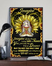 Yoga - Imagine All The People Living In Peace 11x17 Poster lifestyle-poster-2