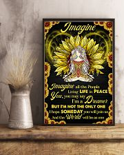 Yoga - Imagine All The People Living In Peace 11x17 Poster lifestyle-poster-3