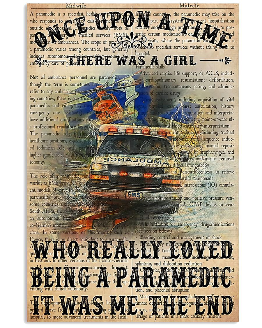 There Was A Girl Who Really Loved Being Paramedic 11x17 Poster