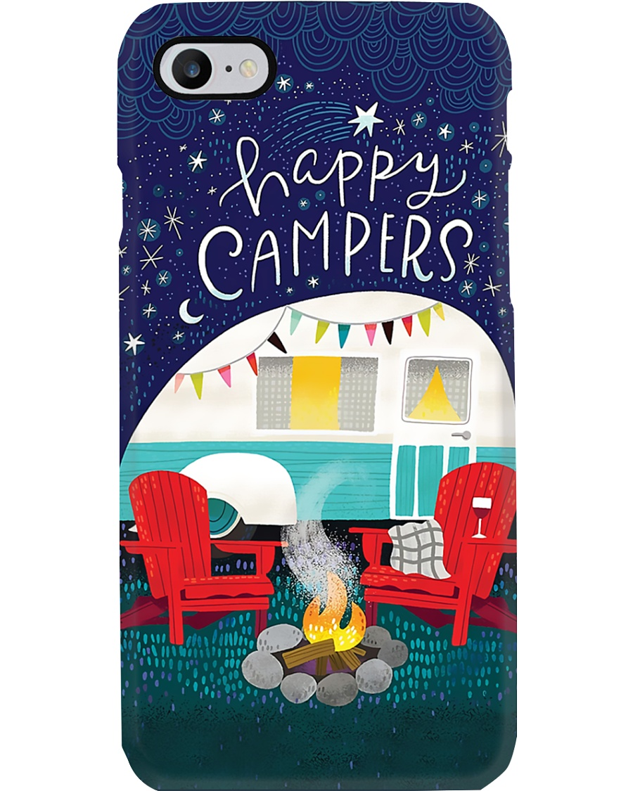 Camping Night Happy Campers Phone Case