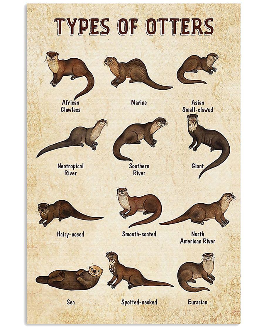 Otter Types 11x17 Poster