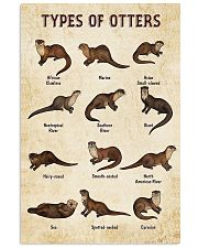 Otter Types 11x17 Poster front