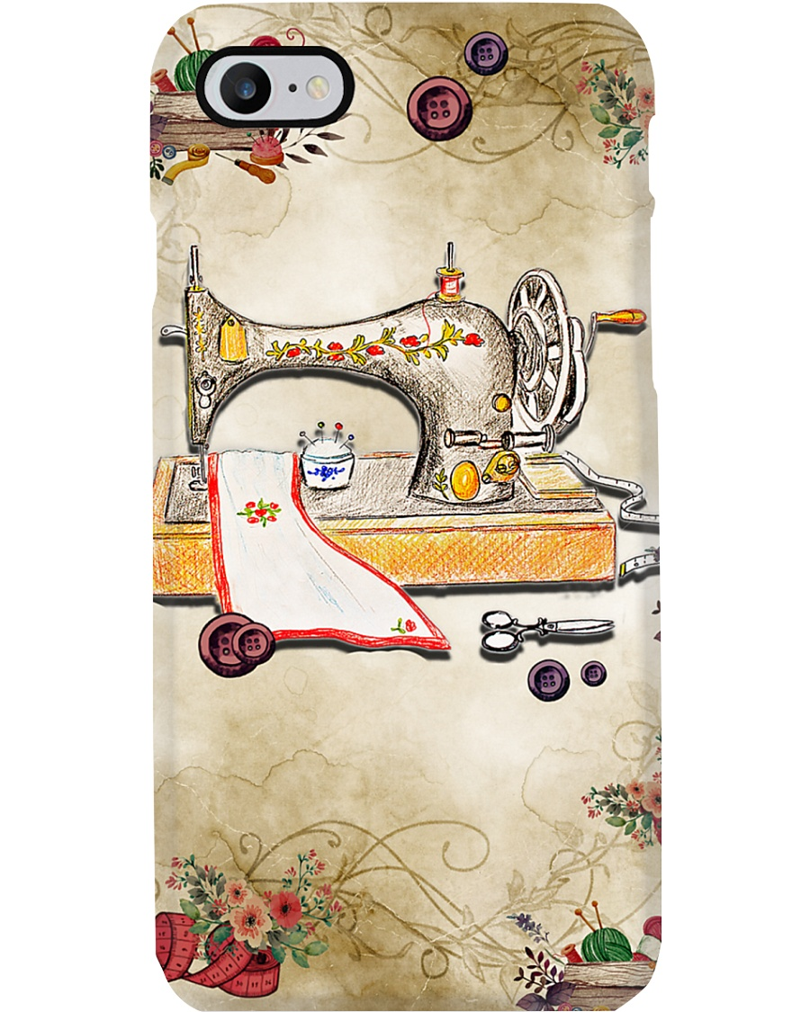 Sewer Colorful Vintage Sewing Machine Phone Case
