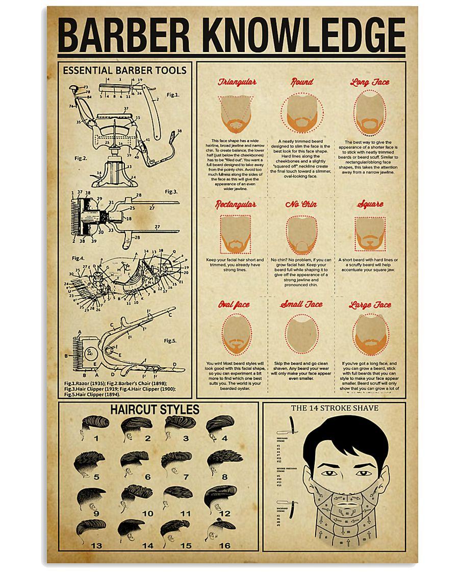 Hairdresser Barber Knowledge 11x17 Poster