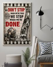 Firefighter We stop when we're done Poster 11x17 Poster lifestyle-poster-1
