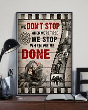 Firefighter We stop when we're done Poster 11x17 Poster lifestyle-poster-2