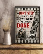 Firefighter We stop when we're done Poster 11x17 Poster lifestyle-poster-3