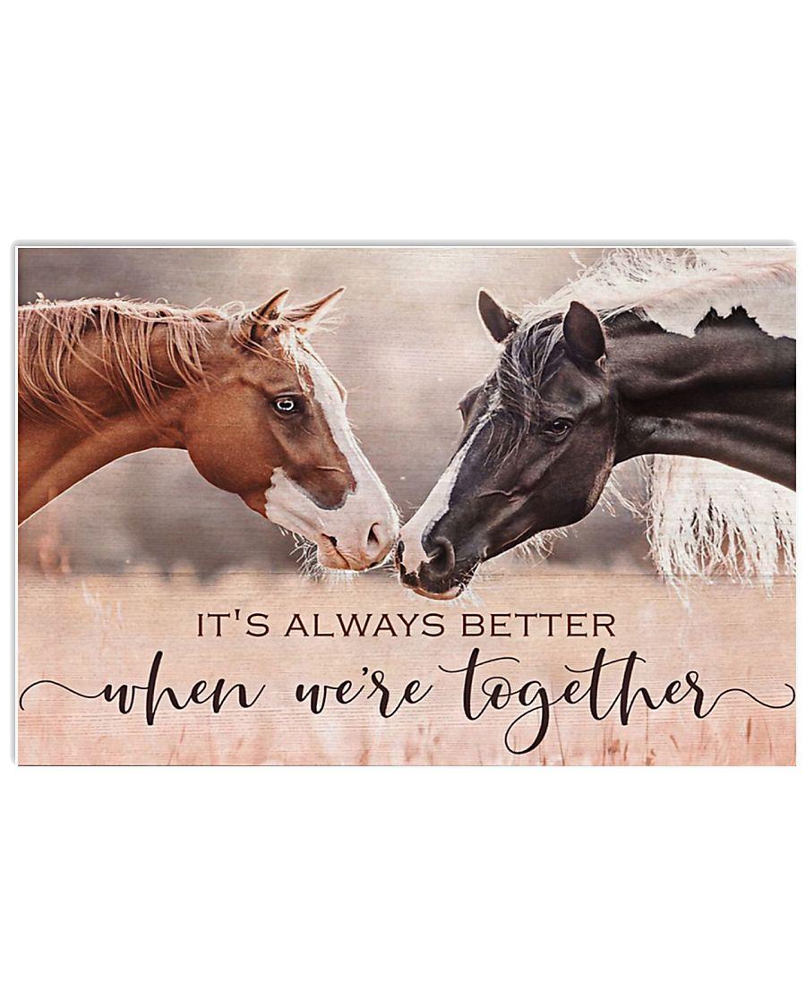Horse Girl - it's always better  17x11 Poster