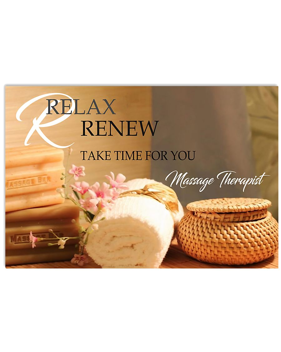 Massage Therapist Relax And Renew 17x11 Poster