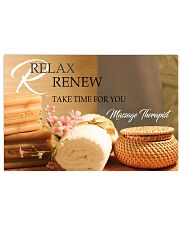 Massage Therapist Relax And Renew 17x11 Poster front