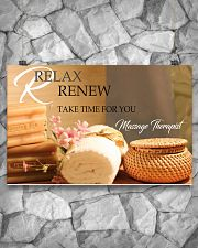 Massage Therapist Relax And Renew 17x11 Poster poster-landscape-17x11-lifestyle-13