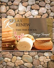 Massage Therapist Relax And Renew 17x11 Poster poster-landscape-17x11-lifestyle-15