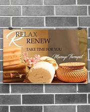 Massage Therapist Relax And Renew 17x11 Poster poster-landscape-17x11-lifestyle-18
