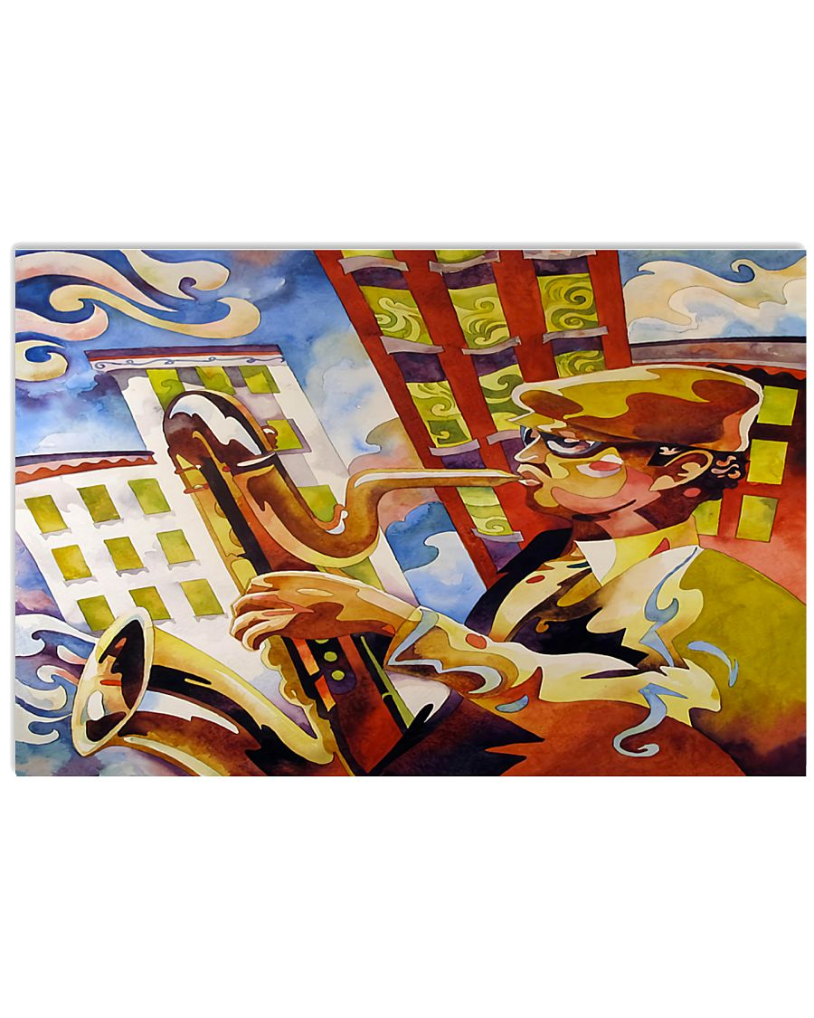 Saxophonist Man With Saxophone 17x11 Poster
