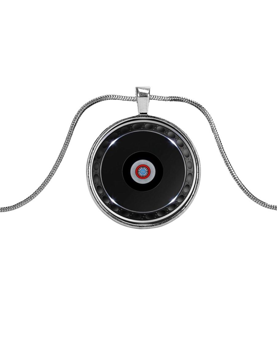 DJ Controller Metallic Circle Necklace