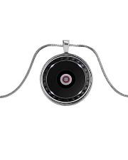 DJ Controller Metallic Circle Necklace front