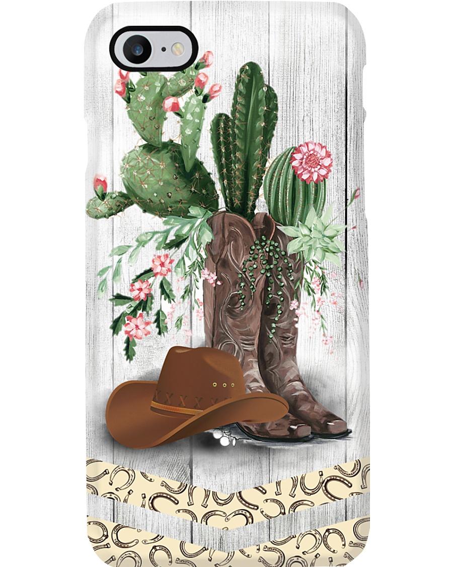 Horse Girl Cactus Phone Case