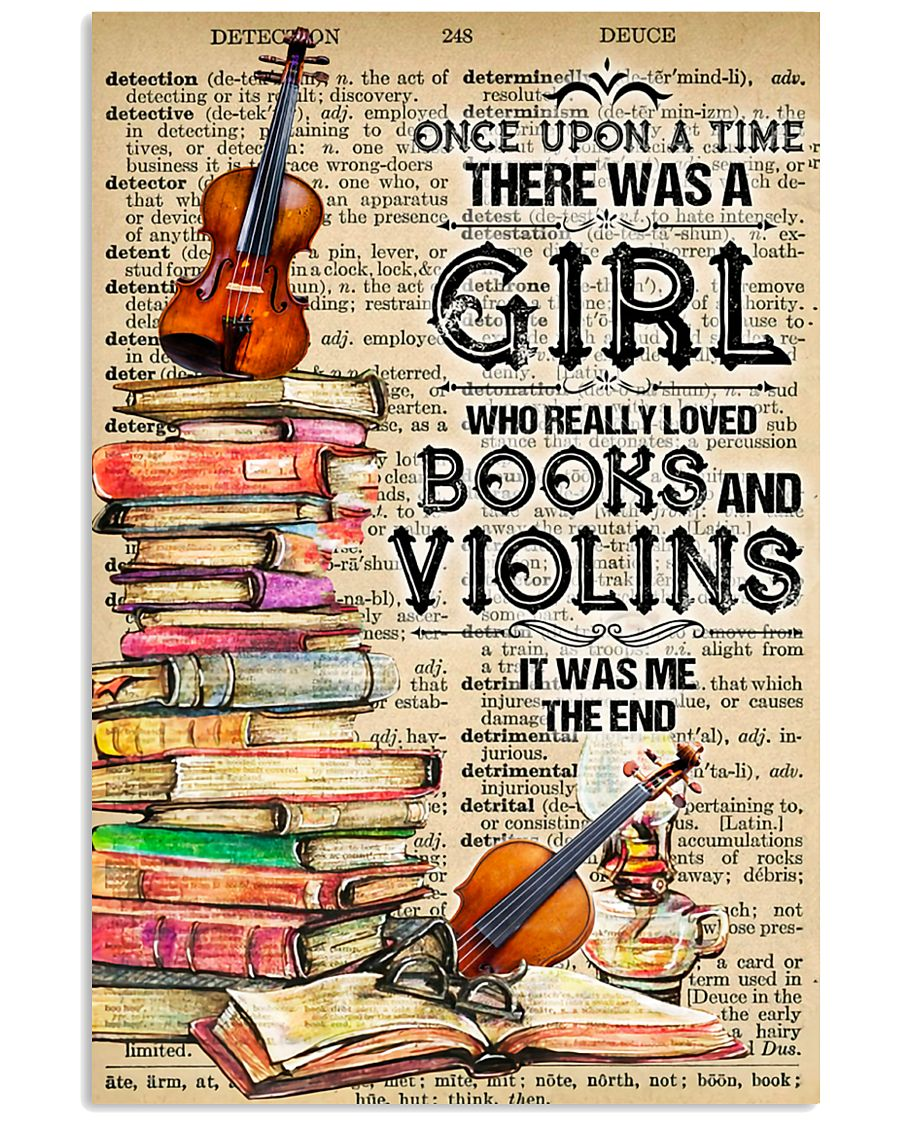 A Girl Who Really Loved Books And Violins 11x17 Poster