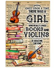 A Girl Who Really Loved Books And Violins 11x17 Poster front