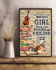 A Girl Who Really Loved Books And Violins 11x17 Poster lifestyle-poster-3