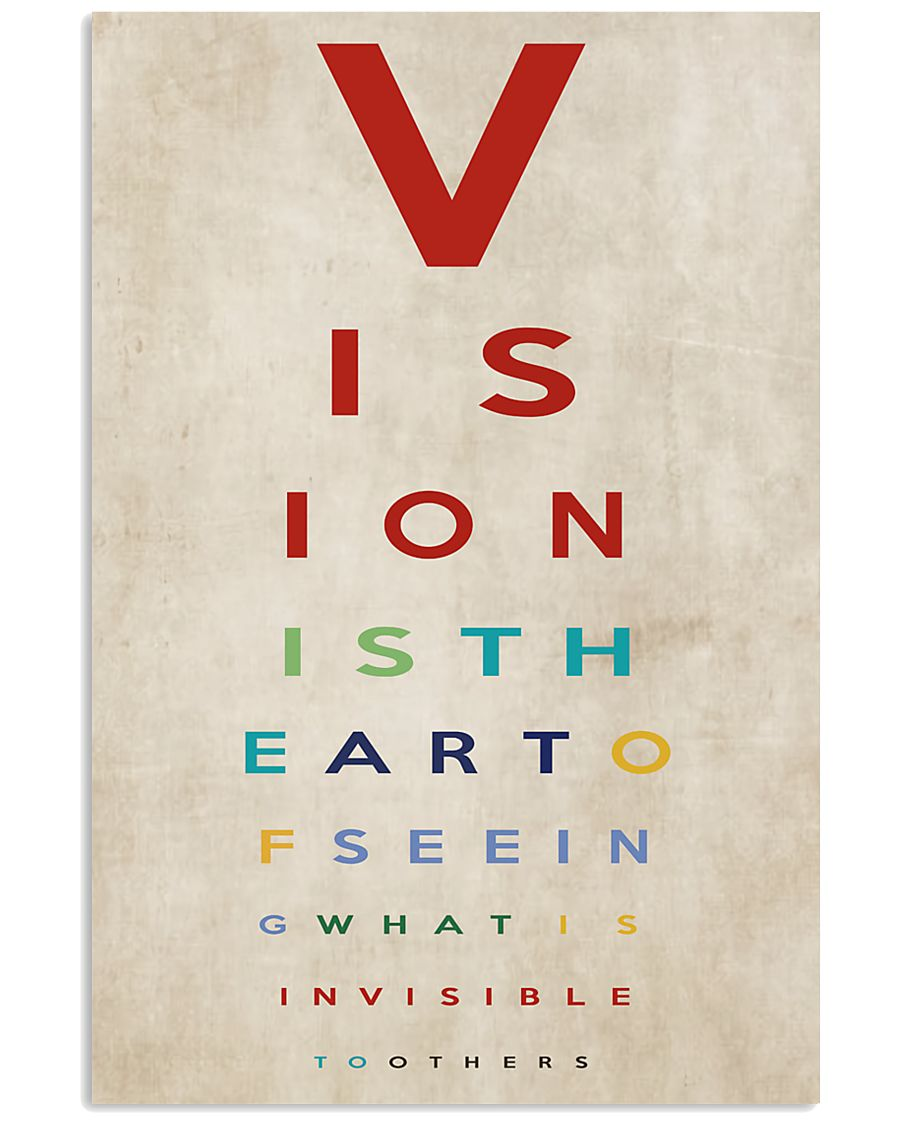 Optometrist Vision Is The Art 11x17 Poster