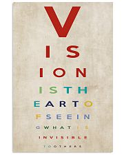 Optometrist Vision Is The Art 11x17 Poster front