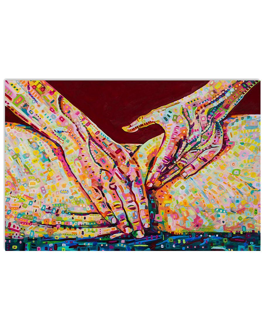 Massage Therapist Massaging 24x16 Poster