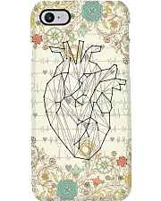Cardiologist Floral Heart Phone Case i-phone-7-case