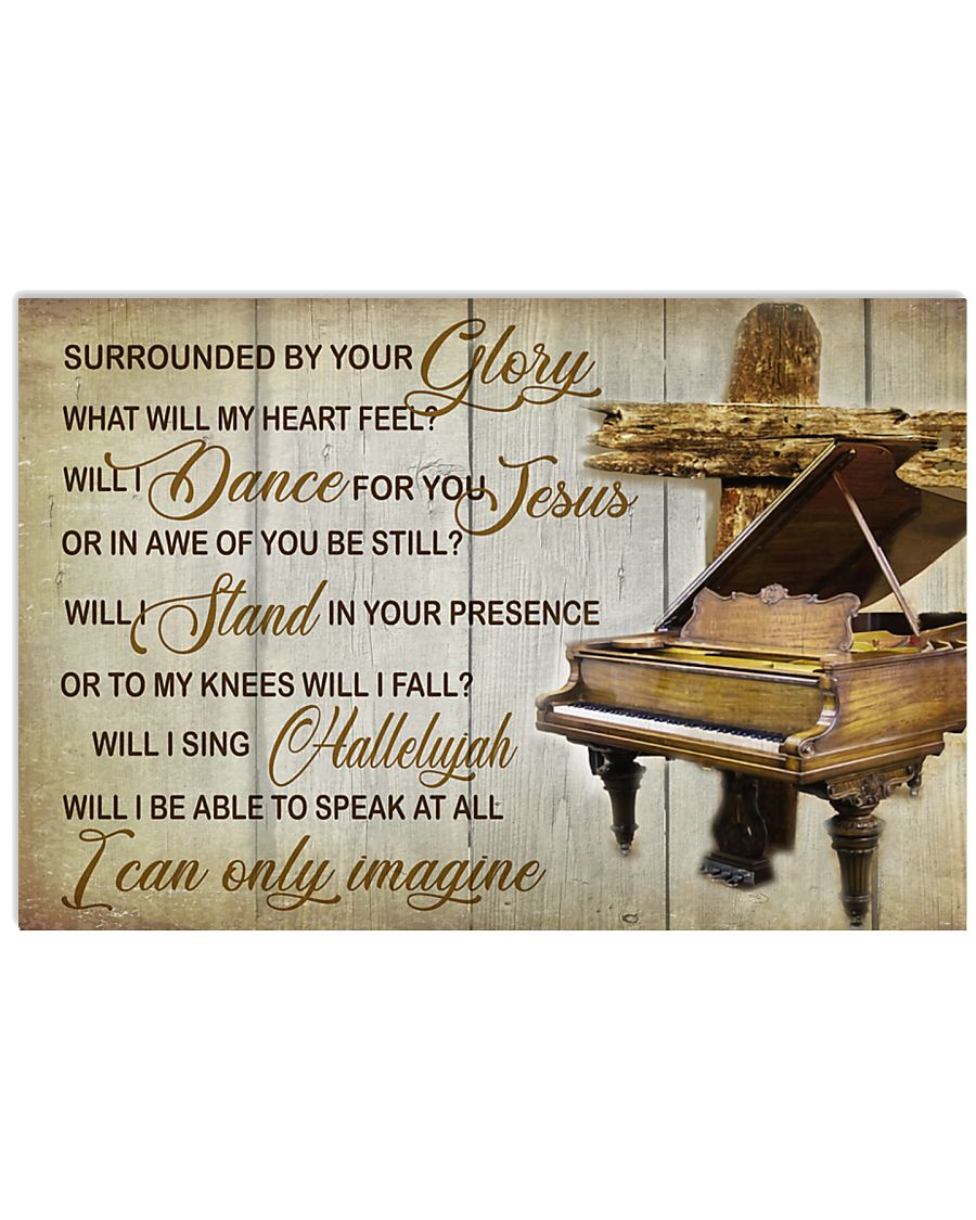 Pianist Surrounded By Your Glory 17x11 Poster