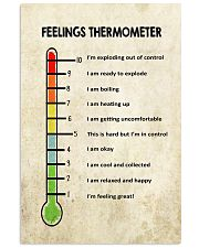 Social Worker Feelings Thermometer  11x17 Poster front