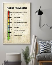 Social Worker Feelings Thermometer  11x17 Poster lifestyle-poster-1