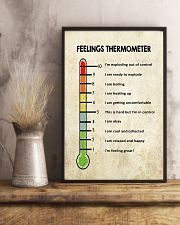 Social Worker Feelings Thermometer  11x17 Poster lifestyle-poster-3