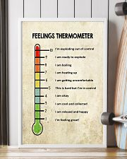 Social Worker Feelings Thermometer  11x17 Poster lifestyle-poster-4