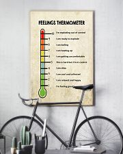 Social Worker Feelings Thermometer  11x17 Poster lifestyle-poster-7