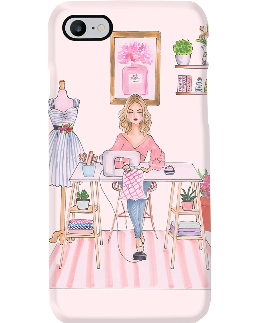 The Girl Sewing  Phone Case