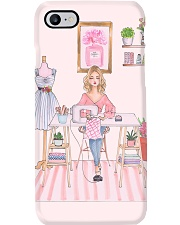 The Girl Sewing  Phone Case i-phone-7-case
