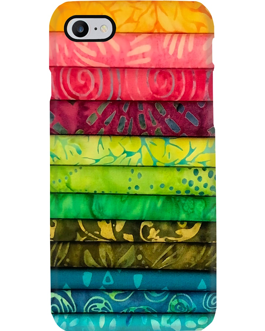 Colorful Fabric Sewing Phone Case