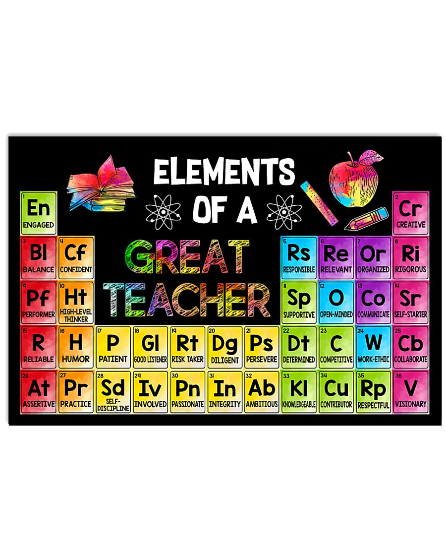 Elements Of A Great Teacher 17x11 Poster