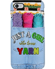 Crochet - Just A Girl Who Loves Yarn Phone Case i-phone-7-case