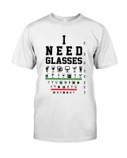 I Need Grasses Optometrist Classic T-Shirt front