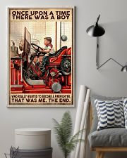 Firefighter A Boy Wanted To Become A Firefighter 16x24 Poster lifestyle-poster-1