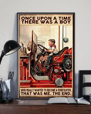 Firefighter A Boy Wanted To Become A Firefighter 16x24 Poster lifestyle-poster-2