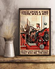 Firefighter A Boy Wanted To Become A Firefighter 16x24 Poster lifestyle-poster-3
