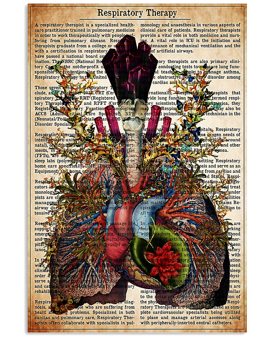 Respiratory Therapy Text 11x17 Poster
