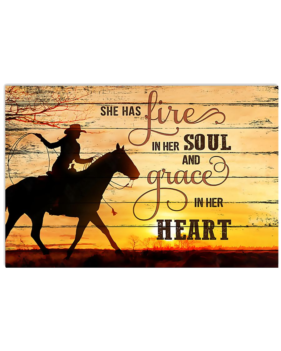 Horse Girl - She has fire in her soul  17x11 Poster