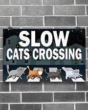 Veterinary Slow Cats Crossing 17x11 Poster poster-landscape-17x11-lifestyle-18
