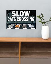 Veterinary Slow Cats Crossing 17x11 Poster poster-landscape-17x11-lifestyle-24