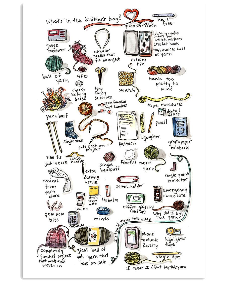 Crochet - What's In The Knitter's Bag 11x17 Poster