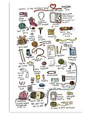 Crochet - What's In The Knitter's Bag 11x17 Poster front